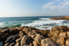 Rocky Coastline Ocean Waves Royalty Free Stock Images