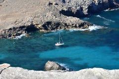 Rocky coastline od island Majorca, Spain Royalty Free Stock Photos