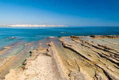 Rocky coastline of Plemmirio, in Sicily Stock Photo