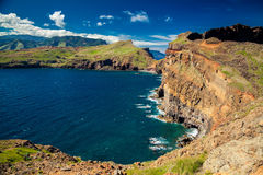 Rocky coastline of the Ponta do Sao Lourenco Stock Photo