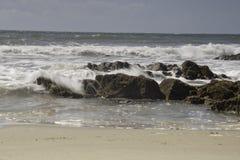 Rocky coastline Port Enyon Stock Image