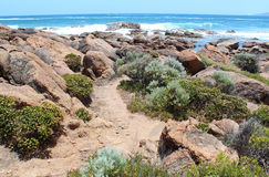 Rocky coastline  Port Smith west Australia Royalty Free Stock Images