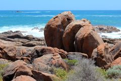 Rocky coastline  Port Smith west Australia Royalty Free Stock Photos