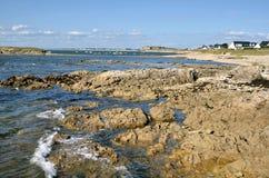 Rocky coastline of Portivy in France Stock Photo