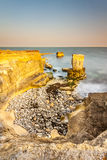 Rocky Coastline of Portland Bill at Sunset Stock Photo