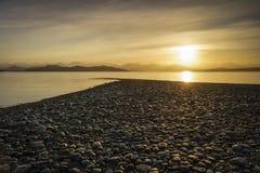 Rocky Coastline, Rebecca Spit, Quadra Island, British Columbia C Royalty Free Stock Photography