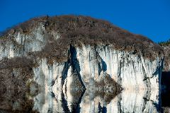 Rocky coastline. With sheer cliffs Royalty Free Stock Photography