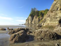 Rocky Coastline Ruby Beach Washington fotografie stock libere da diritti