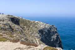 Rocky coastline in Sagres, Portugal Royalty Free Stock Photography