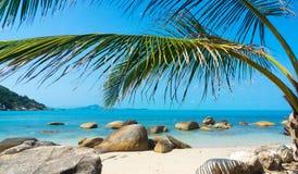 Rocky coastline on Samui Island Royalty Free Stock Photography