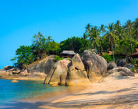 Rocky coastline on Samui Island Stock Photos