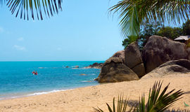 Rocky coastline on Samui Island Royalty Free Stock Photography