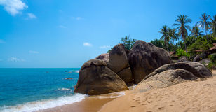 Rocky coastline on Samui Island Royalty Free Stock Photo