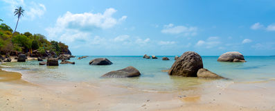 Rocky coastline on Samui Island Stock Images