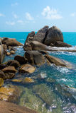 Rocky coastline on Samui Island Stock Images