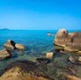 Rocky coastline on Samui Island Stock Image