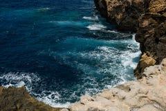 Blue hole and the collapsed Azure window. Gozo, Malta Stock Photos