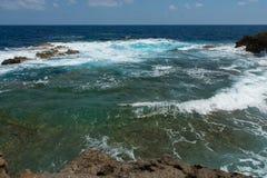 Blue hole and the collapsed Azure window. Gozo, Malta Royalty Free Stock Image