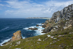 Rocky coastline and sea in Brittany Stock Photos