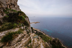 Rocky coastline in Sicily, Italy Royalty Free Stock Photos