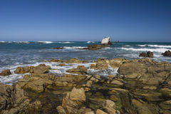 Rocky coastline of South Africa Stock Image