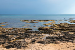 Rocky coastline of south east Cyprus Stock Photography