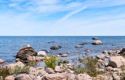 Rocky coastline of southern Georgian Bay. (Lake Huron) in Ontario Royalty Free Stock Photo