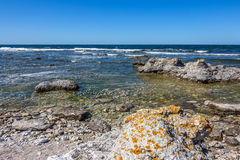 Rocky coastline of Sweden Royalty Free Stock Photography