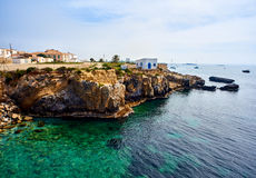 Rocky coastline of Tabarca Island. Spain Stock Image