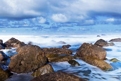 Rocky Coastline in Taganana Coast, Tenerife Stock Photo