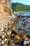 Rocky Coastline of Tortola Stock Images