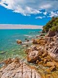 Rocky Coastline Totoranui Stockbild