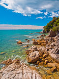 Rocky Coastline Totoranui Stock Image