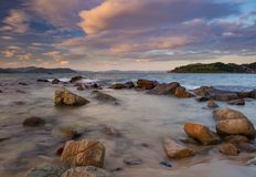Rocky Coastline View Vietnam Royalty-vrije Stock Fotografie