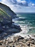 Rocky coastline in cornwall Stock Photo