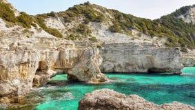 Rocky Coastline. Wild rocky coastline, Greek islands stock photography