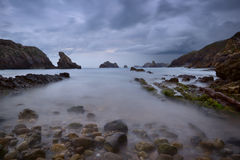 The rocky coasts of northern Spain. Los Urros royalty free stock images