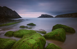 The rocky coasts of northern Spain Stock Image
