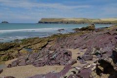 Rocky Cornish coast. A rocky Cornish beach on a sunny day Royalty Free Stock Image
