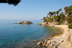 Rocky Costa Brava Bay Stock Image