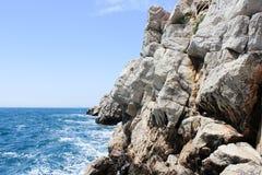 Rocky Costline in Dubrovnik, Kroatië Stock Afbeelding