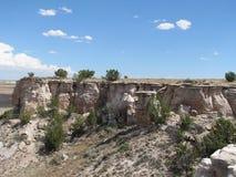 Rocky Crag in deserto dipinto Immagini Stock Libere da Diritti