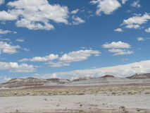 Rocky Crag in Painted Desert Stock Images