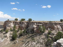 Rocky Crag in Painted Desert Royalty Free Stock Images
