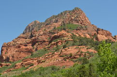 Rocky crag in Zion National Park Royalty Free Stock Images
