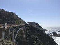 Rocky Creek Bridge on Pacific Coast Highway royalty free stock images