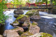 Rocky creek with cascades in Sweden. Rocky creek with cascades in southern Sweden Royalty Free Stock Images