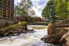 Rocky creek with cascades in Sweden. Rocky creek with cascades in southern Sweden Stock Image
