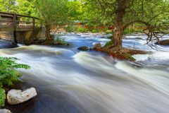 Rocky creek with cascades in Sweden. Rocky creek with cascades in southern Sweden Royalty Free Stock Photography