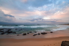 Rocky Daybreak Seascape. Taken at Birdie Beach, Munmorah on the Central Coast, NSW, Australia Royalty Free Stock Image